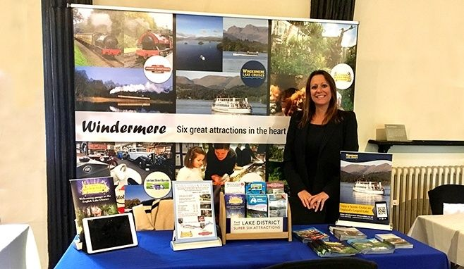 Jen Cormack, Sales Director at a tradeshow