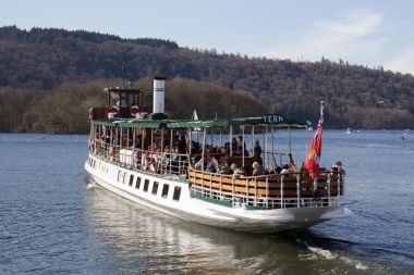 MV Tern departing Bowness on the Red Cruise