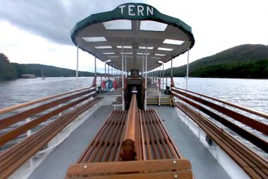 Plenty of seating on the outer decks of MV Tern