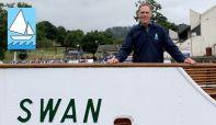 Founder of Blackwell Sailing, David Hall on board steamer MV Swan