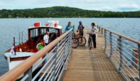First boat services get underway  from a new Windermere jetty