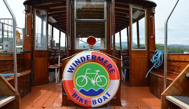 Lake District's only dedicated 'Bike Boat' to sail on Windermere