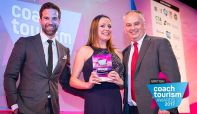 Sales & marketing Manager Jen Cormack collects her award at the event