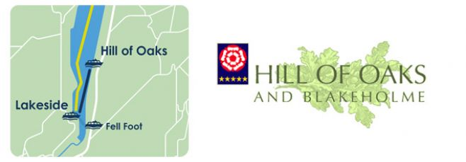 Map and logo of Hill of Oaks
