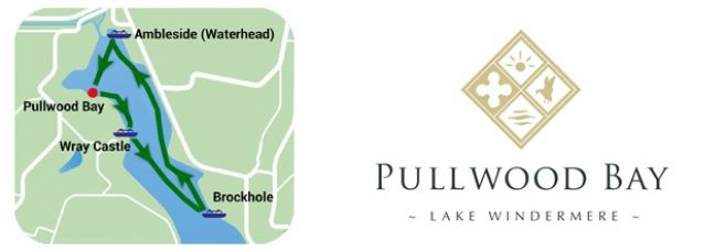 Pullwood Bay logo and map of waterbus route.