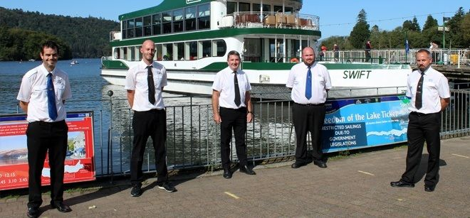 Some of the new boatmasters for MV Swift