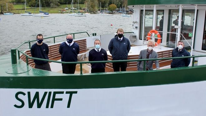 Damen representatives and new Masters of the vessel