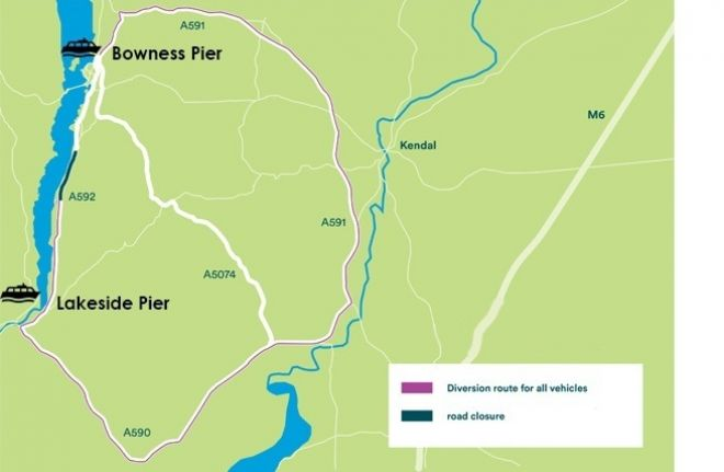 A map of the diversion that needs to be in place