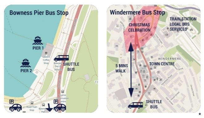A map of the bus pickups