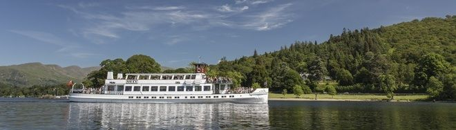 A historic 'steamer ' on the Red Cruise between Ambleside & Bowness. One of the half lake cruises that can be included with this ticket.