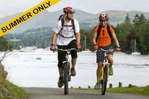 Explore the traffic-free western shore of Windermere by bike