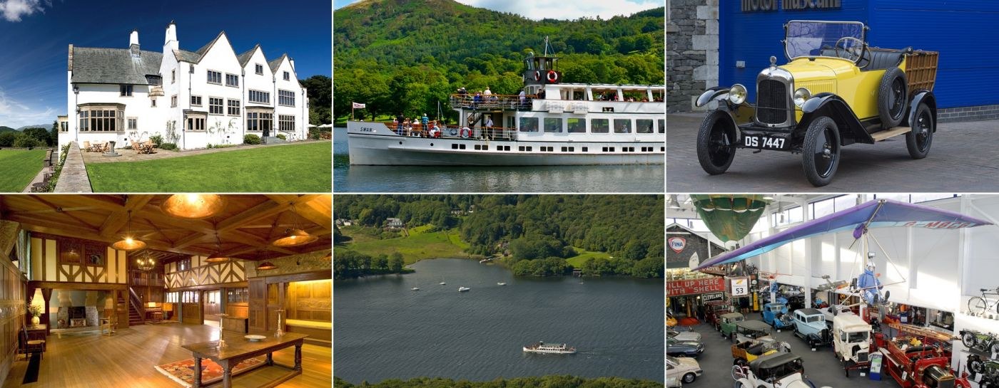 Two historic attractions linked by a cruise on a heritage vessel