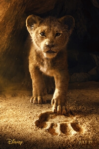 UK film poster for The Lion King (2019)
