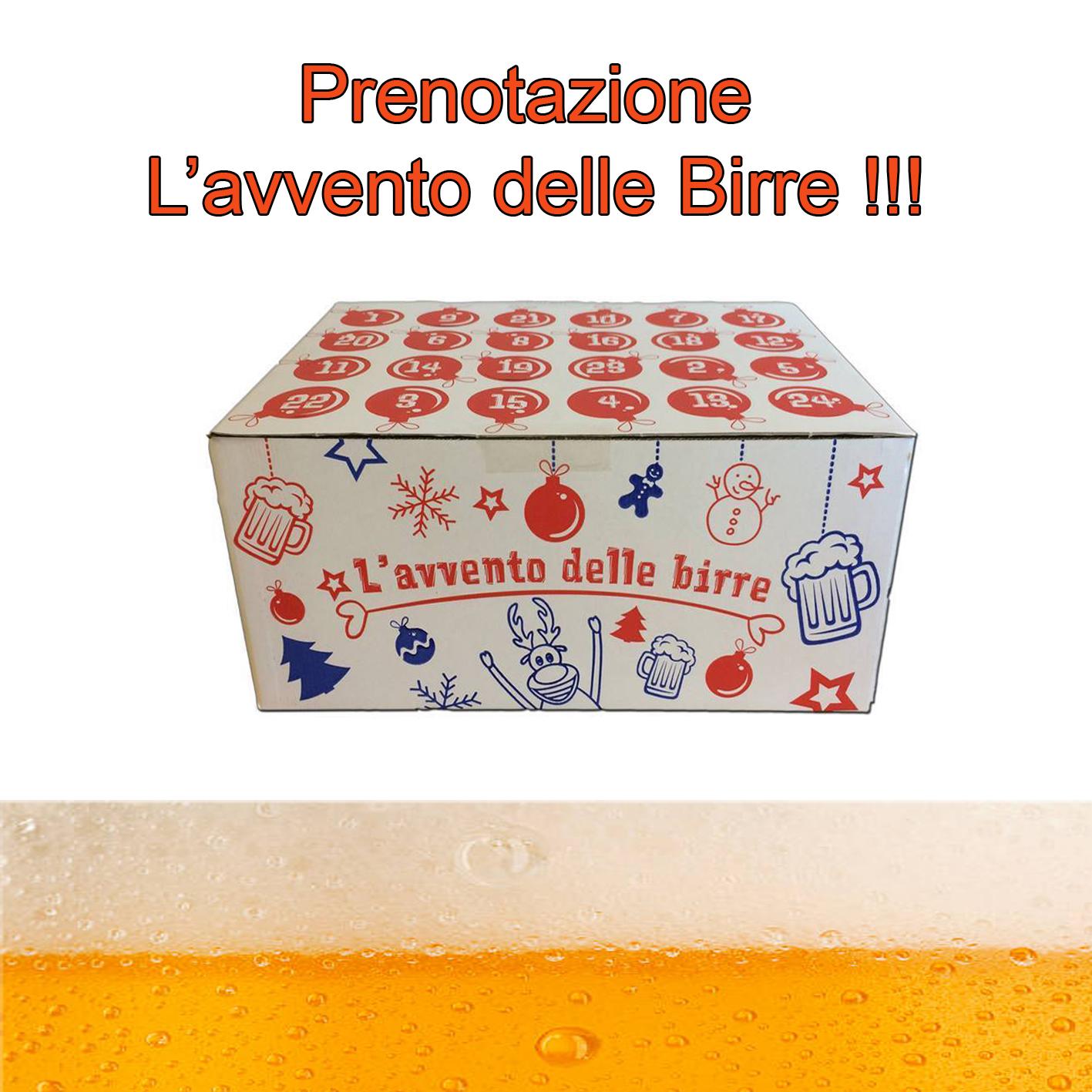 Calendario Avvento Birra.Prenotazione Calendario L Avvento Delle Birre 2018