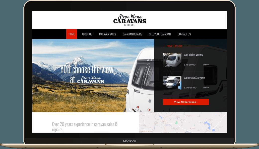 Website homepage on MacBook
