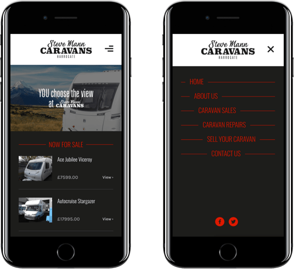 Website on mobile devices