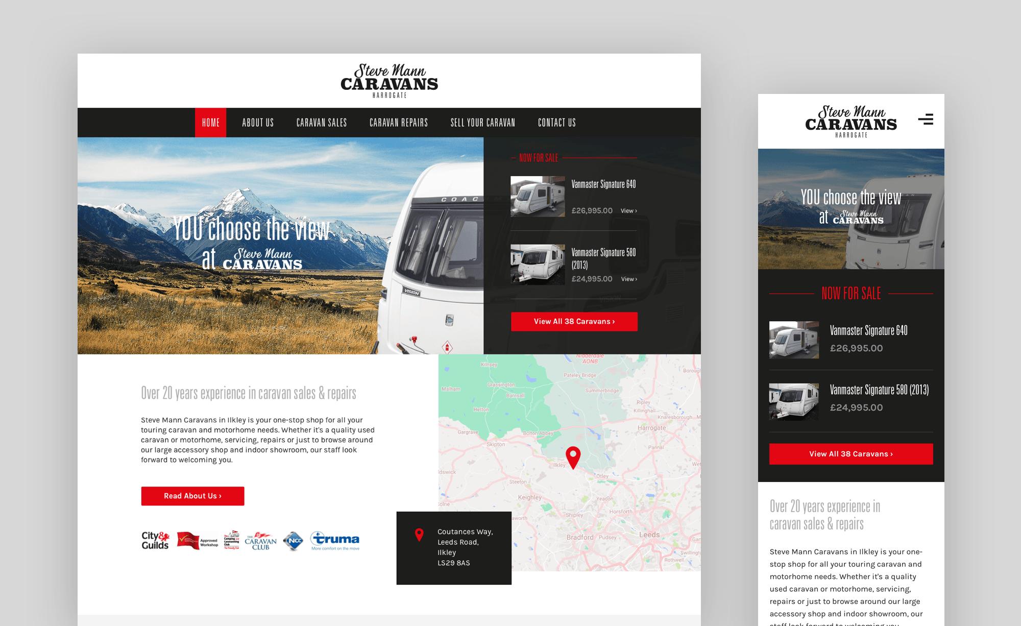 Website design for desktop and mobile