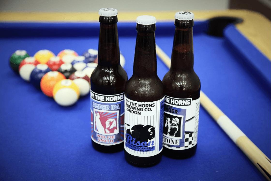 Beers on pool table