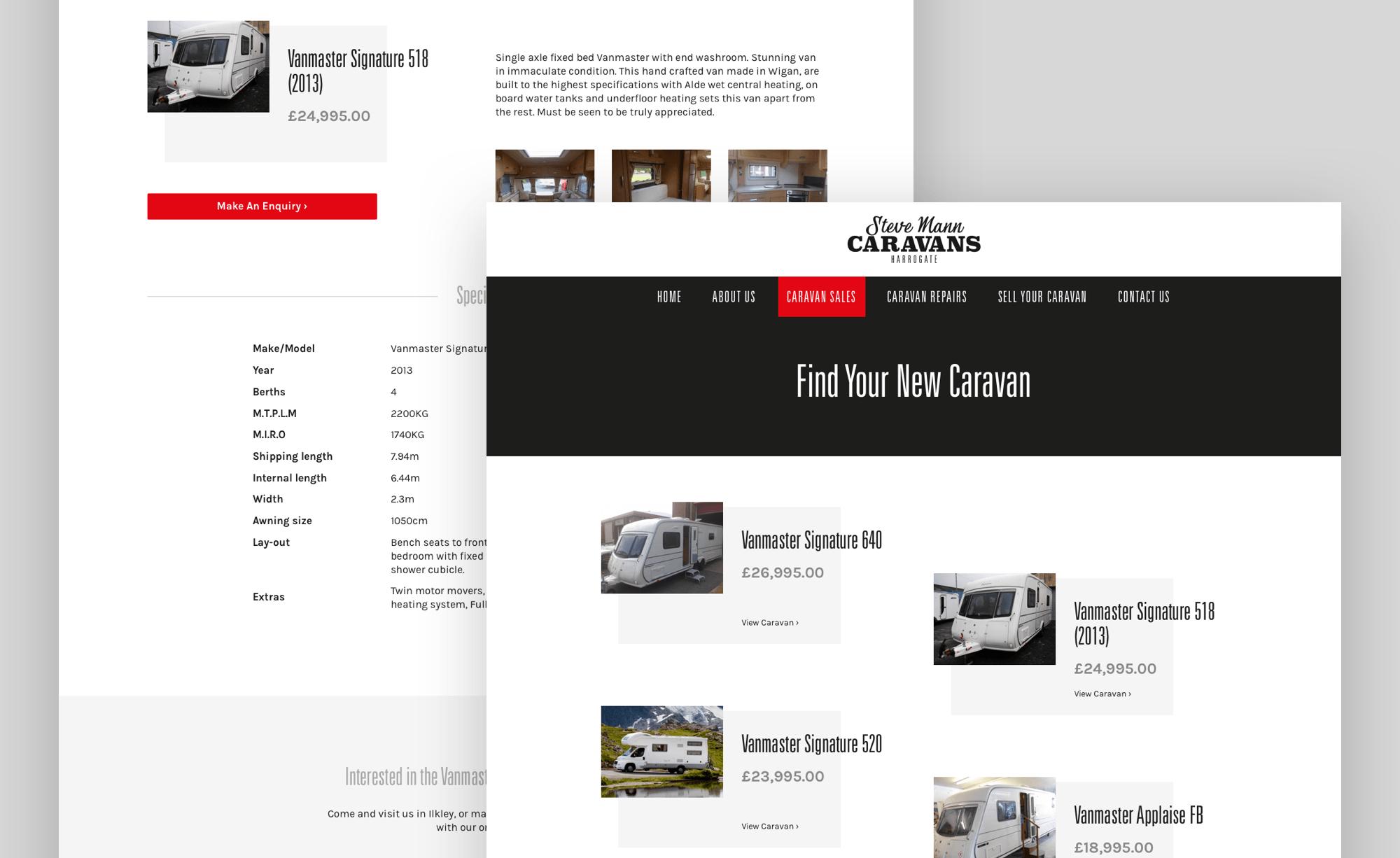 Caravan page designs