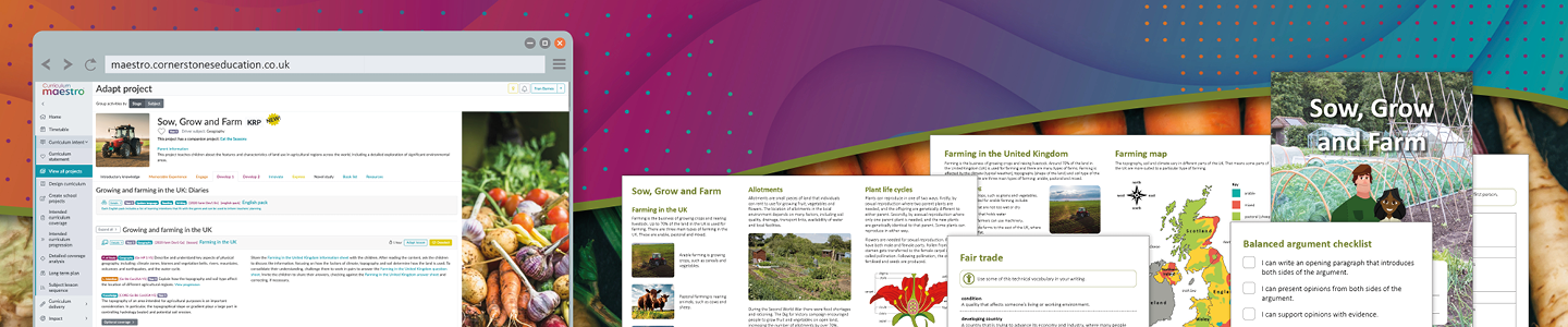 Sow Grow and farm geography knowledge rich project