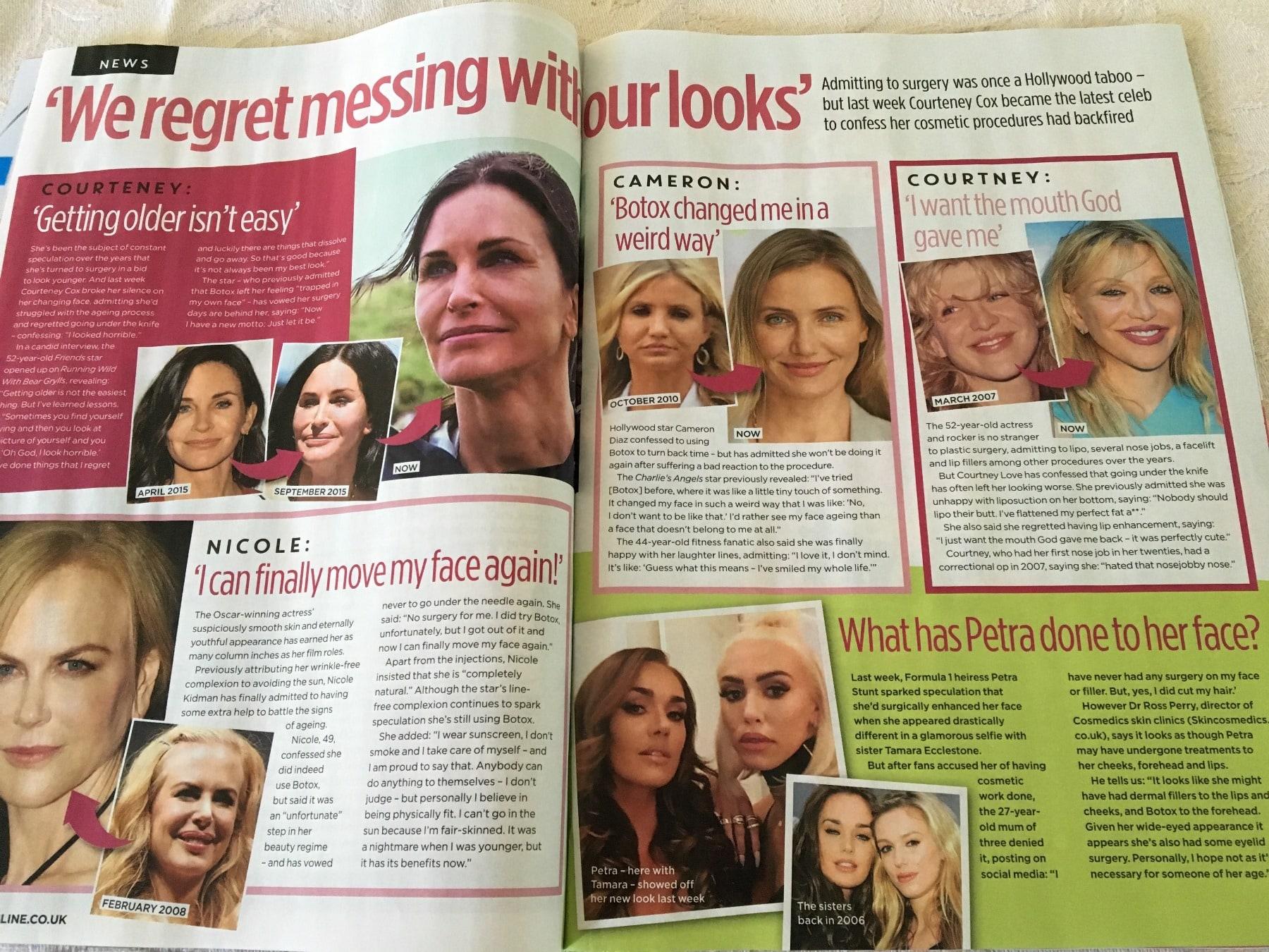 closer magazine celebrity treatments