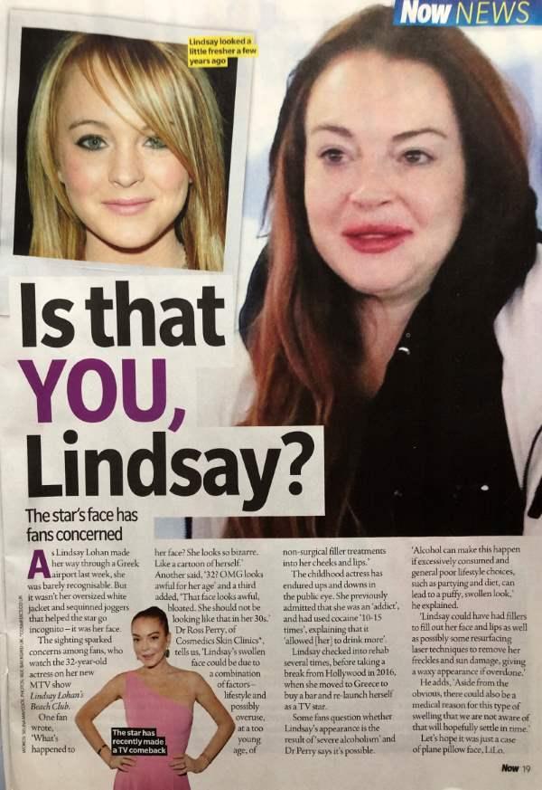 Now Mag Lindsay Lohan