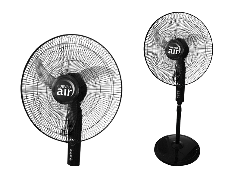 "18"" Black Pedestal Fan"