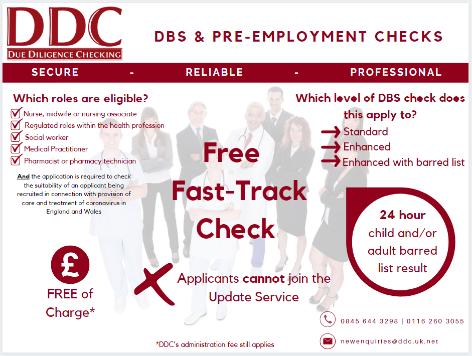 Free fast-track check infographic