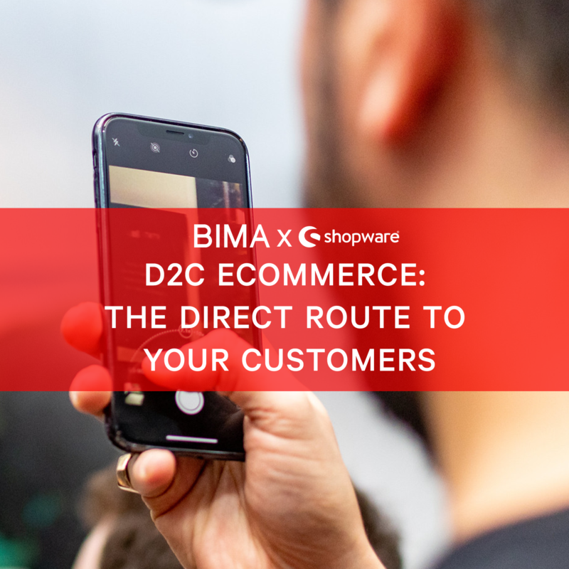 BIMA X Shopware Hangouts | D2C eCommerce: The Direct Route to Your Customers