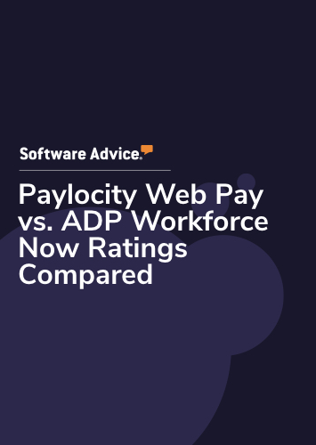 Paylocity Web Pay vs. ADP Workforce Now Ratings Compared