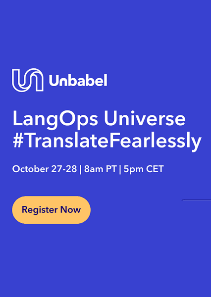 LangOps Universe 2021 #TranslateFearlessly