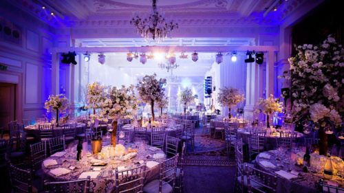 The Landmark London, Wedding in London, Jewish Wedding Landmark, Function Band, Faux Snow