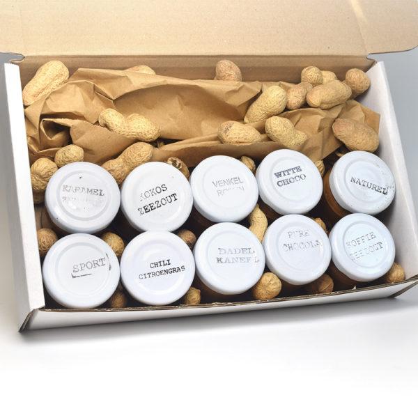 Pindakaas proefpakket 10 smaken mini's