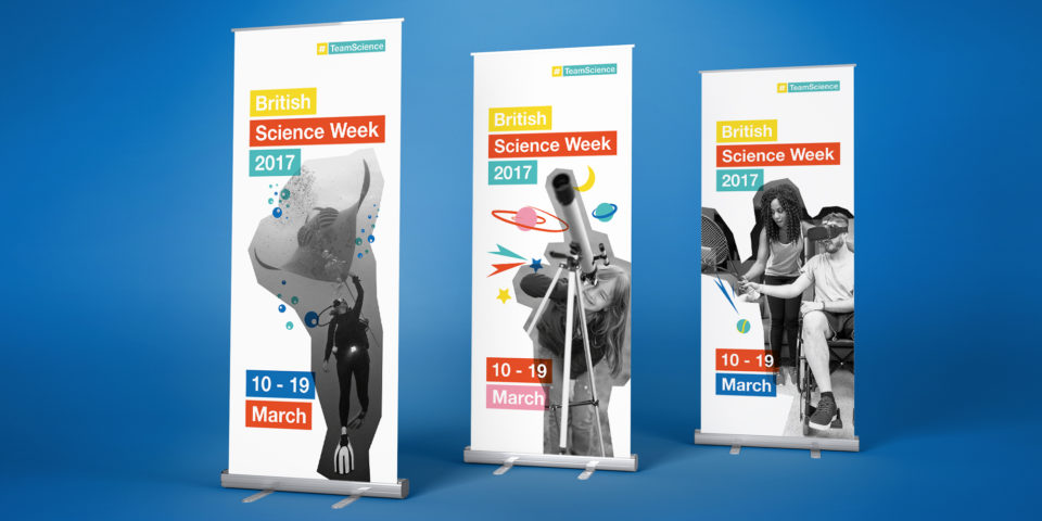 Team Science pull up banners