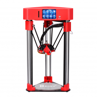 red and silver 3D printer