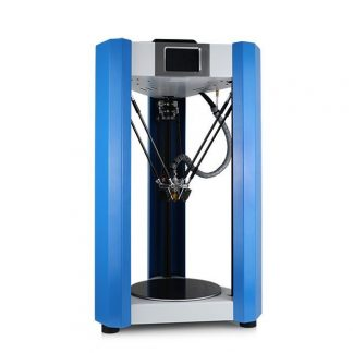 blue and grey 3D printer