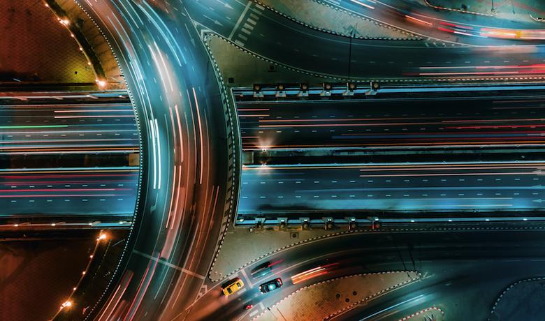 night time motorway sky shot