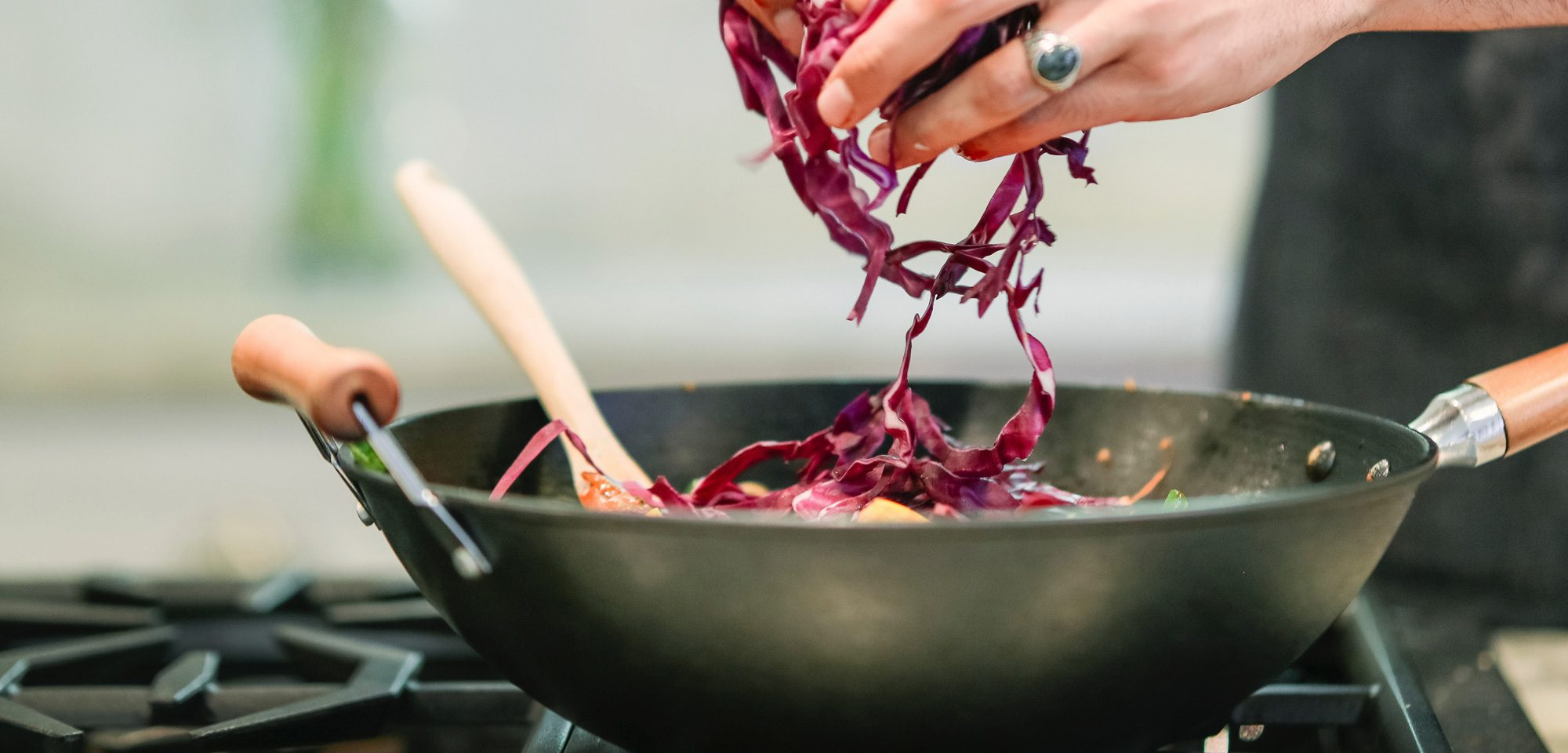 Red cabbage cooking