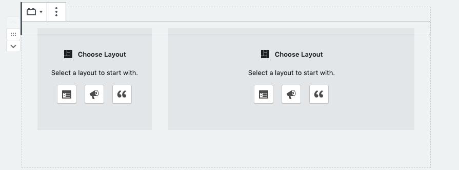 Choosing inner regios within the grouped items block