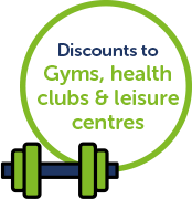 Discounts on gyms, health clubs and leisure centers