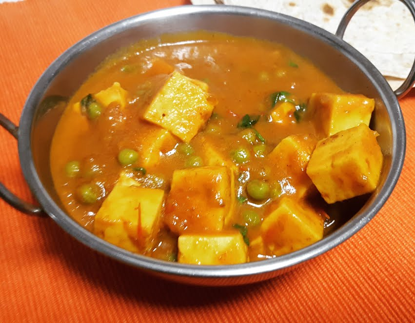 Mattar Masala Paneer | Indian Cottage Cheese & Peas Curry
