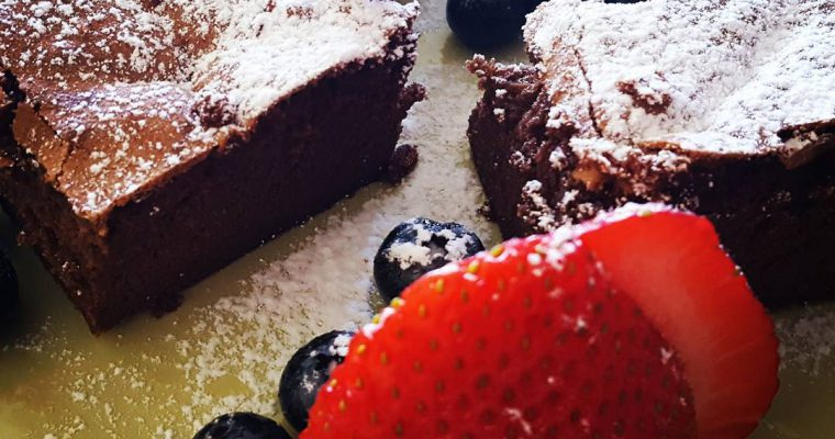 The Most Delicious Dark Chocolate Brownie Ever