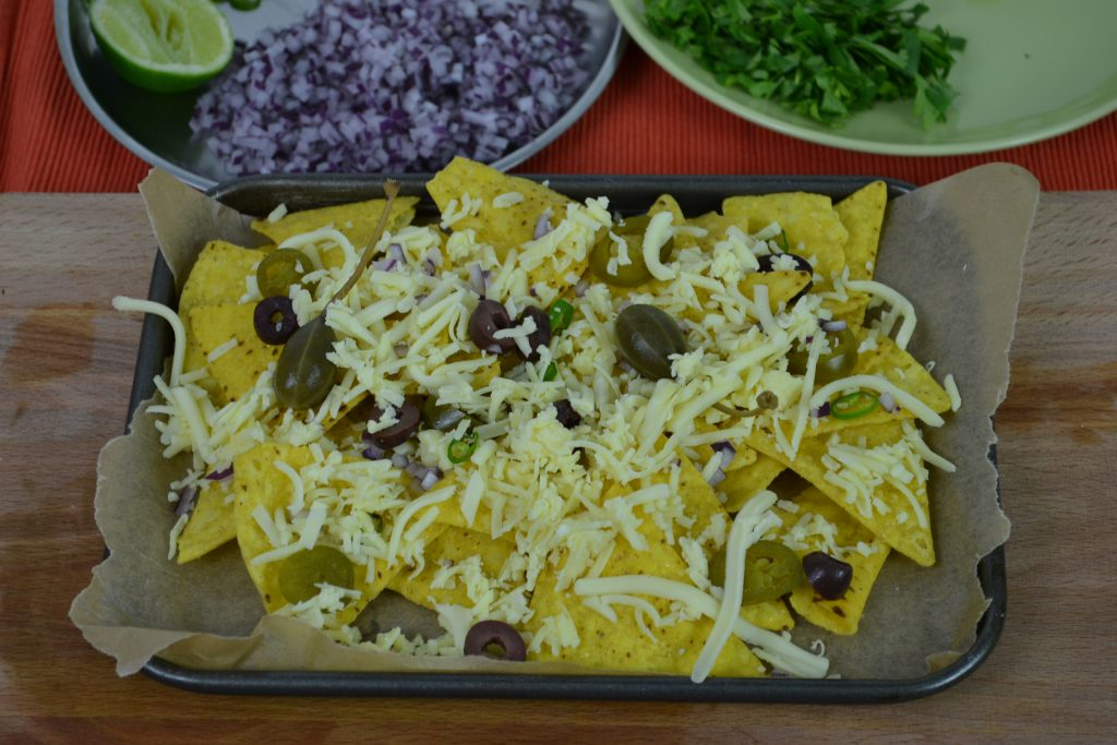 Nachos and vegetarian quesadillas recipe