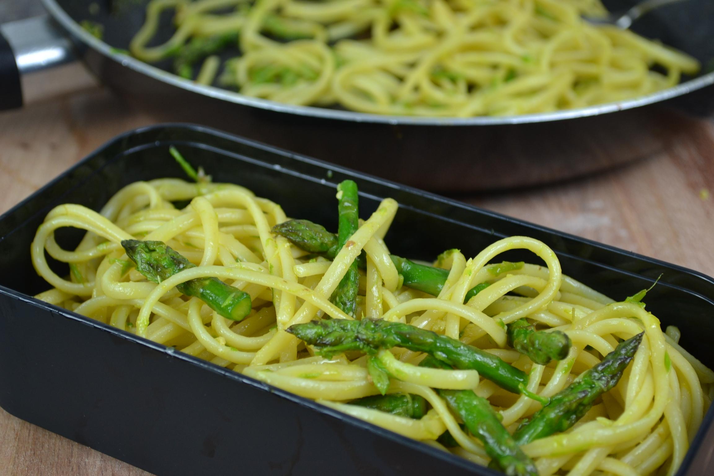 Asparagus and Lemon Pasta - Lunch box ideas
