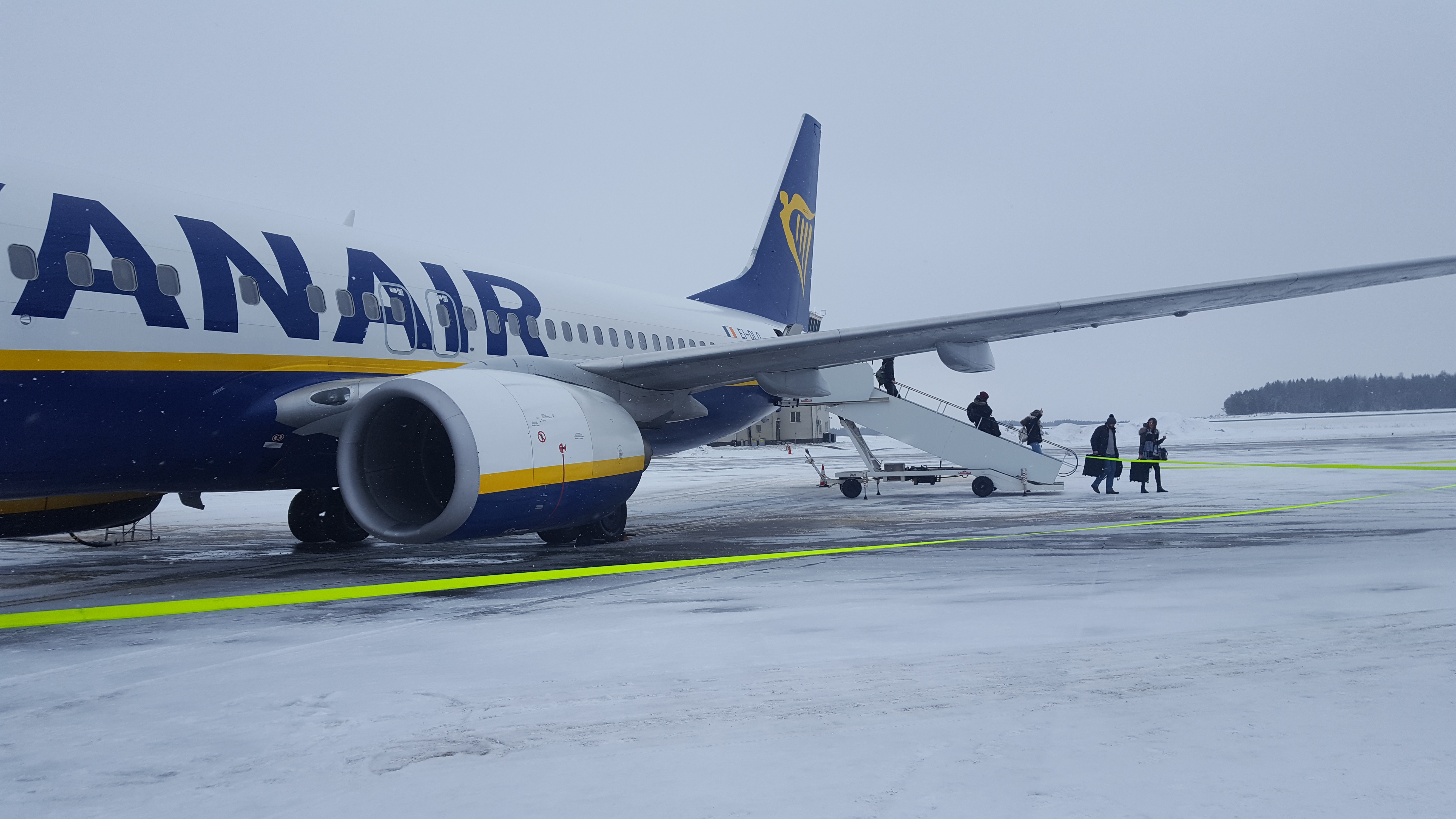 Ryanair flight London to Stockholm