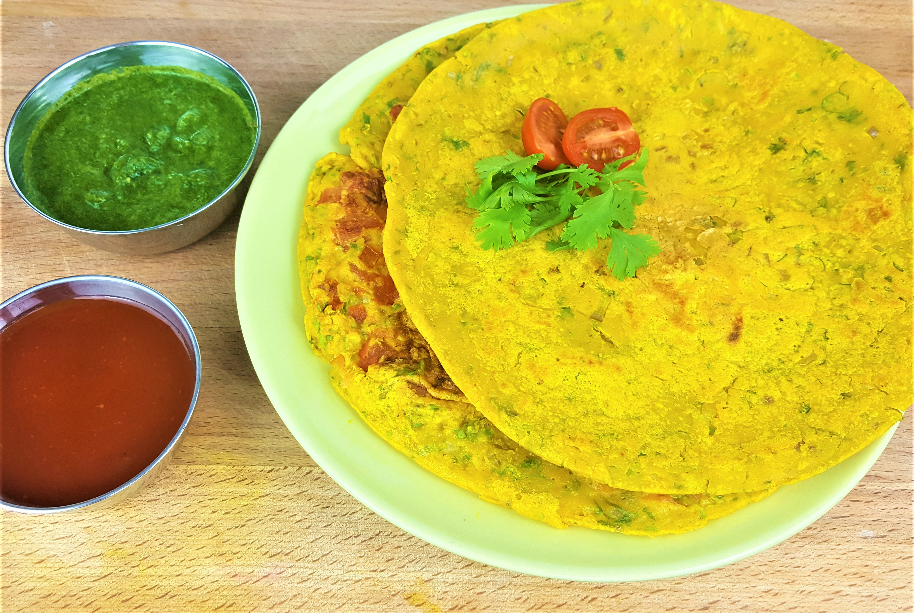 Cheela | Besan Chilla | Vegan Chickpea Omelette