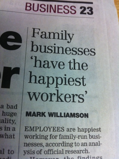 Its official  …….. we have the happiest workers :-)