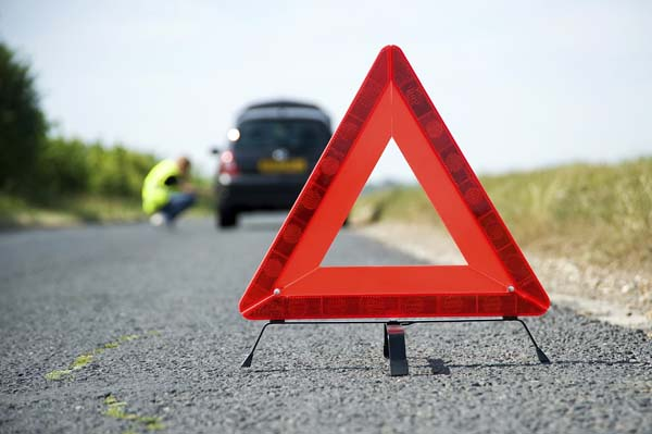 Red Warning Triangle With A Broken Down Car - Used Cars of Bristol