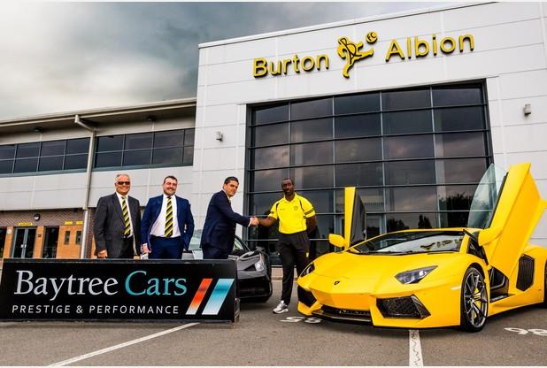 Baytree Cars is now Burton Albion Football Clubs Main Sponsor!