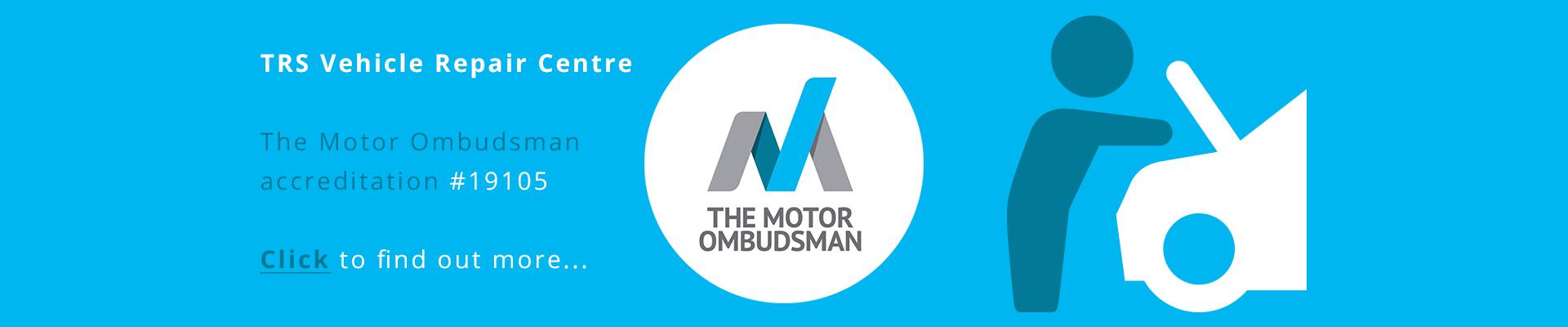 Trs Vehicle Centre Motor Ombudsman Banner -